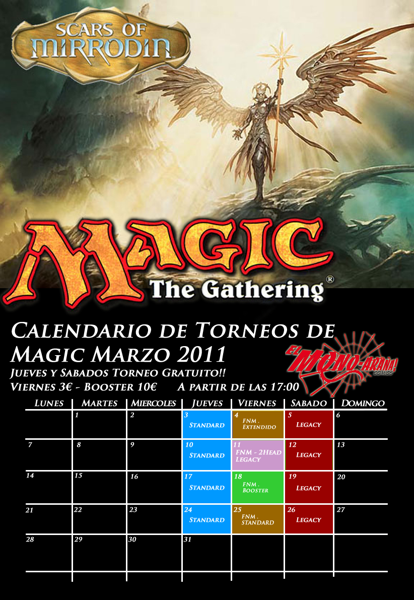 Calendario Magic Marzo
