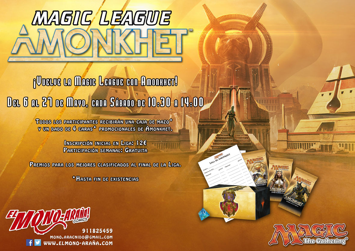 Magic League Amonkhet @ El Mono-Araña! cómics | Madrid | Comunidad de Madrid | España