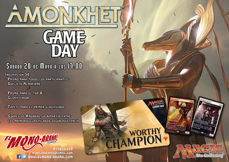Magic Game Day Amonkhet @ El Mono-Araña! cómics | Madrid | Comunidad de Madrid | España
