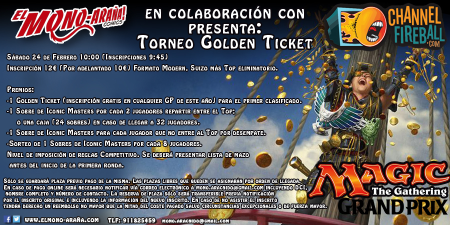 Torneo Golden Ticket – Juega gratis en el Magic Grand Prix